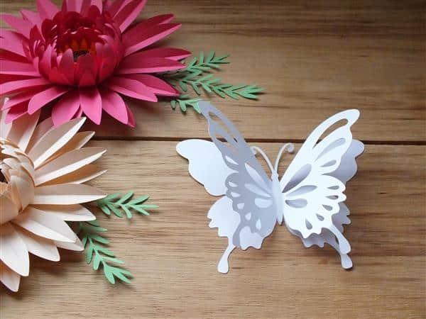 como fazer borboletas de papel