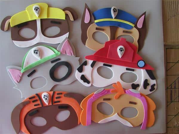 mascara de eva tema patrulha canina