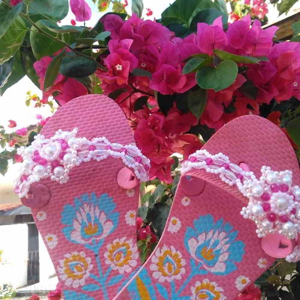 sandalia infantil rosa
