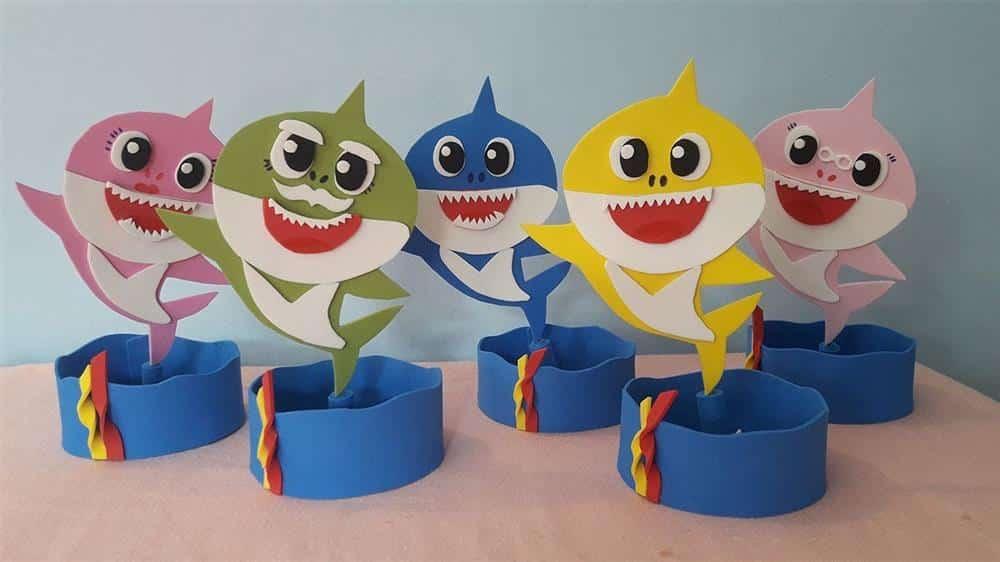 lembrancinha de mesa baby shark