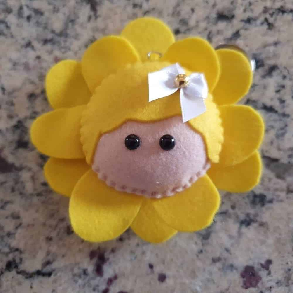 chaveiro de flor