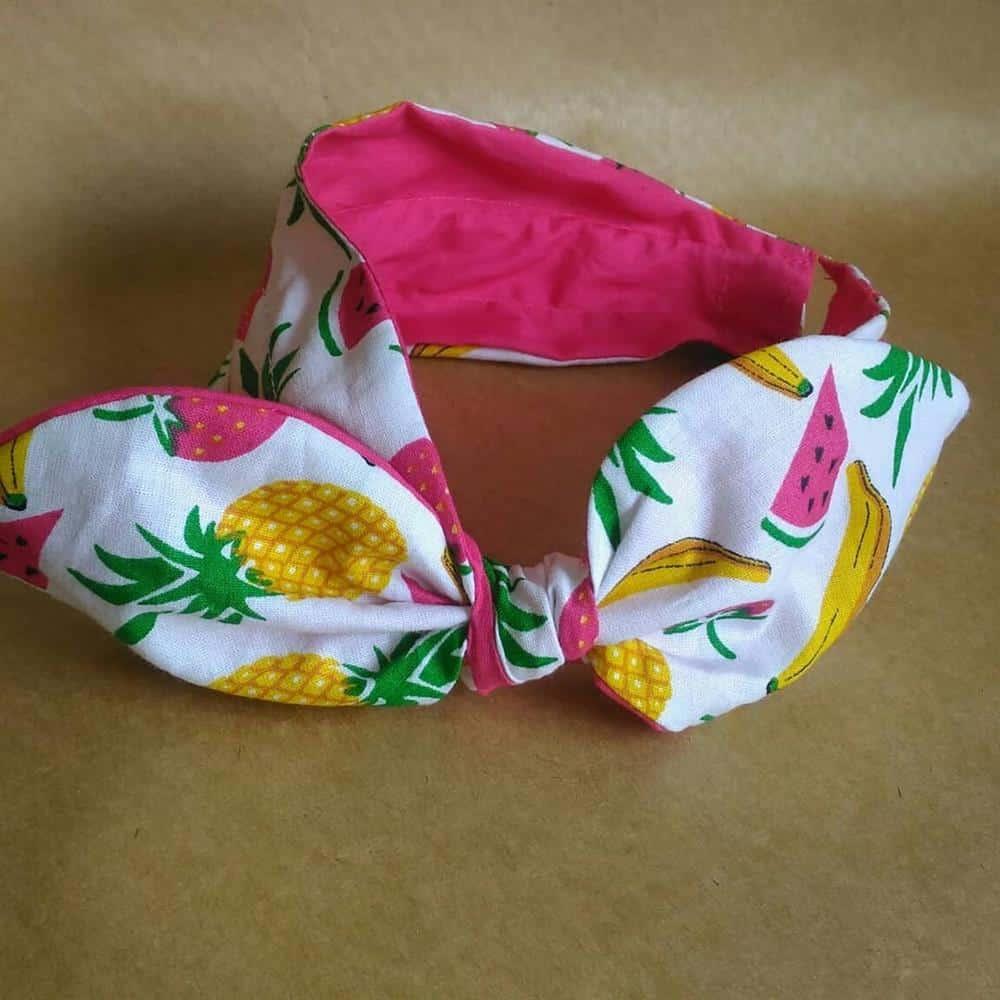 tiara turbante com laço infantil