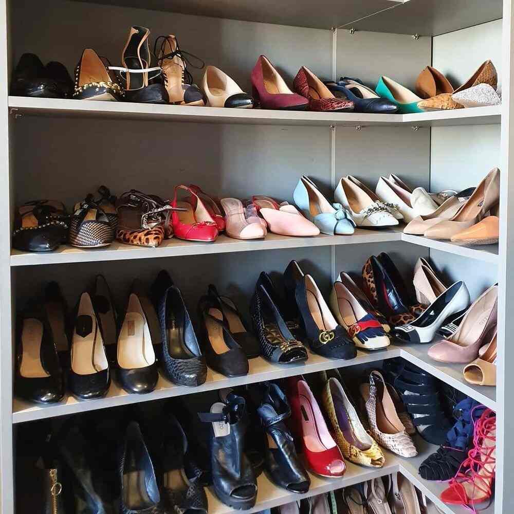 maneiras de se organizar sapatos