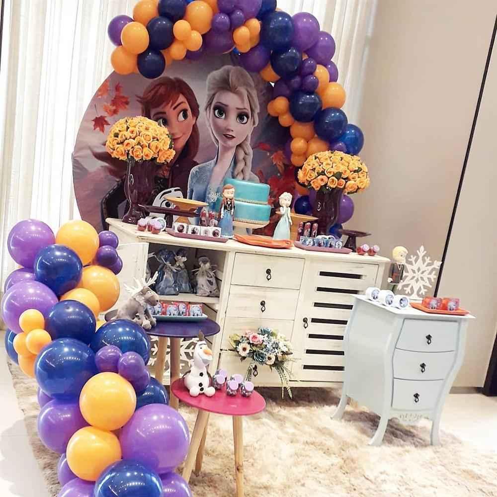 festa da frozen com balões
