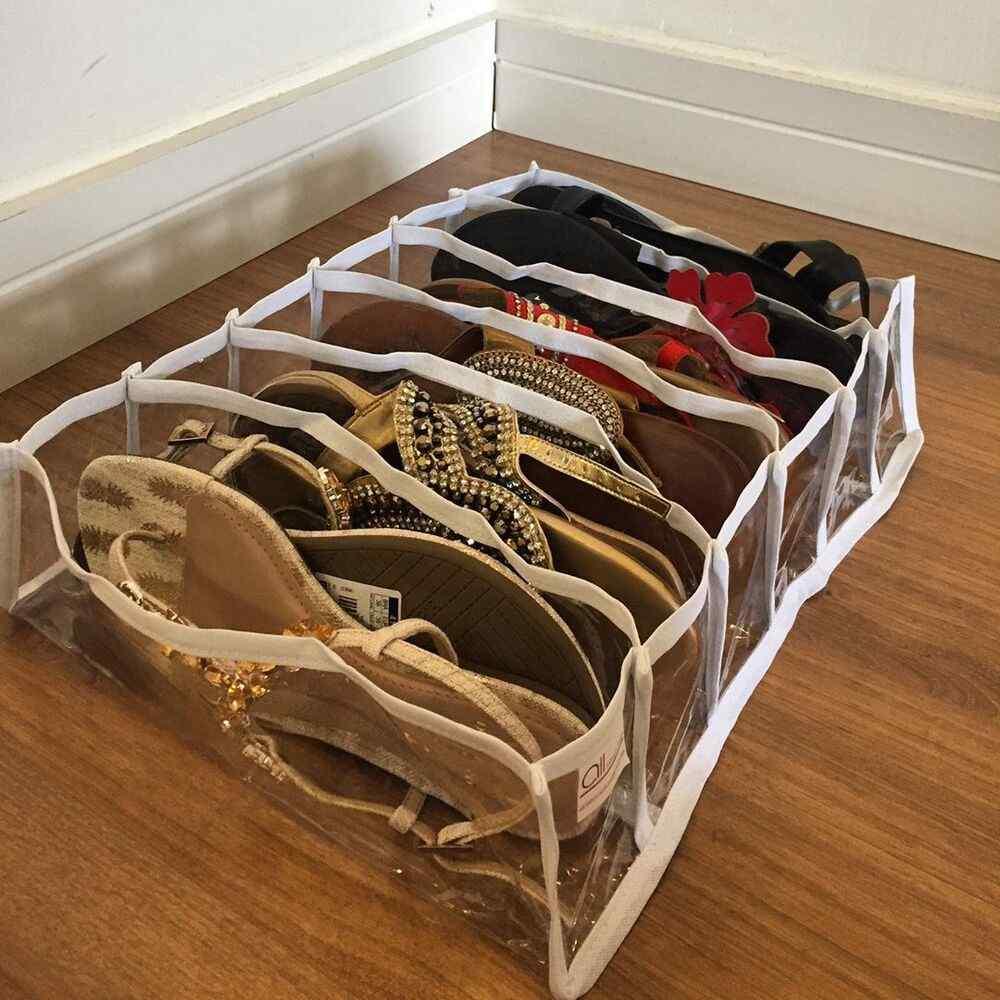 como organizar sapatos em espaços pequenos