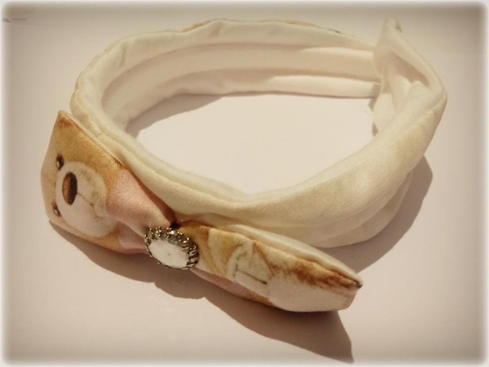 tiara turbante com perola