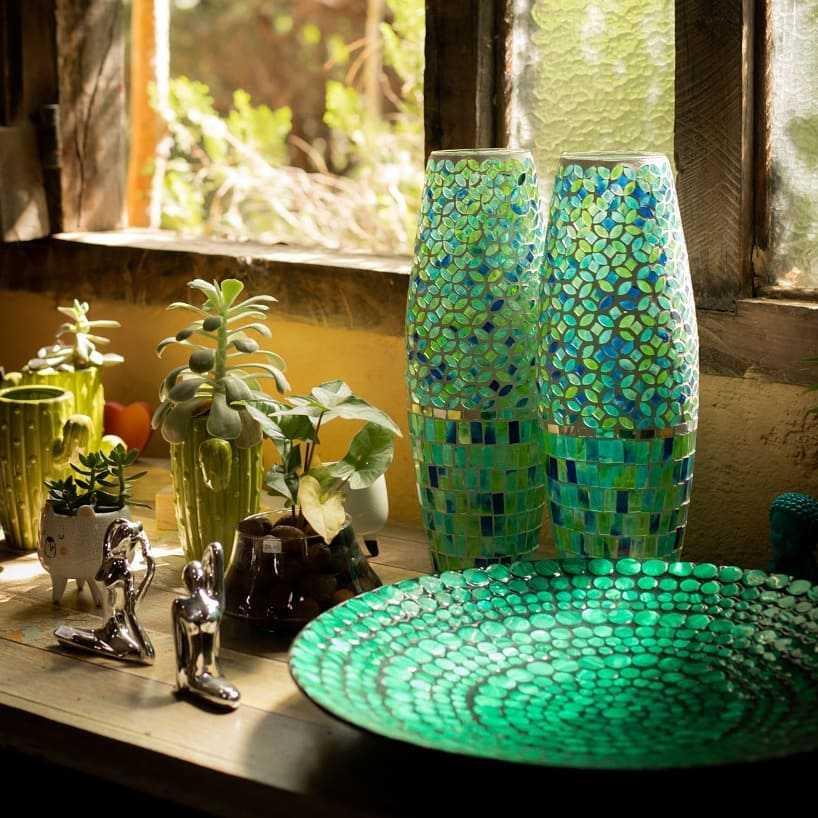 mosaico com pastilhas de vidro