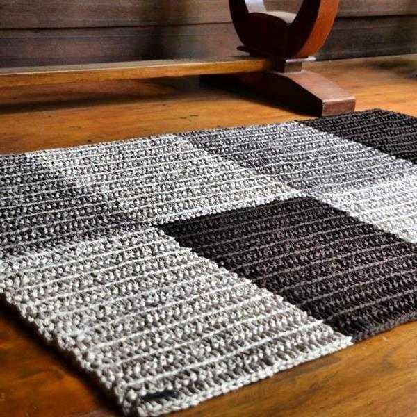 tapete de croche simples duas cores
