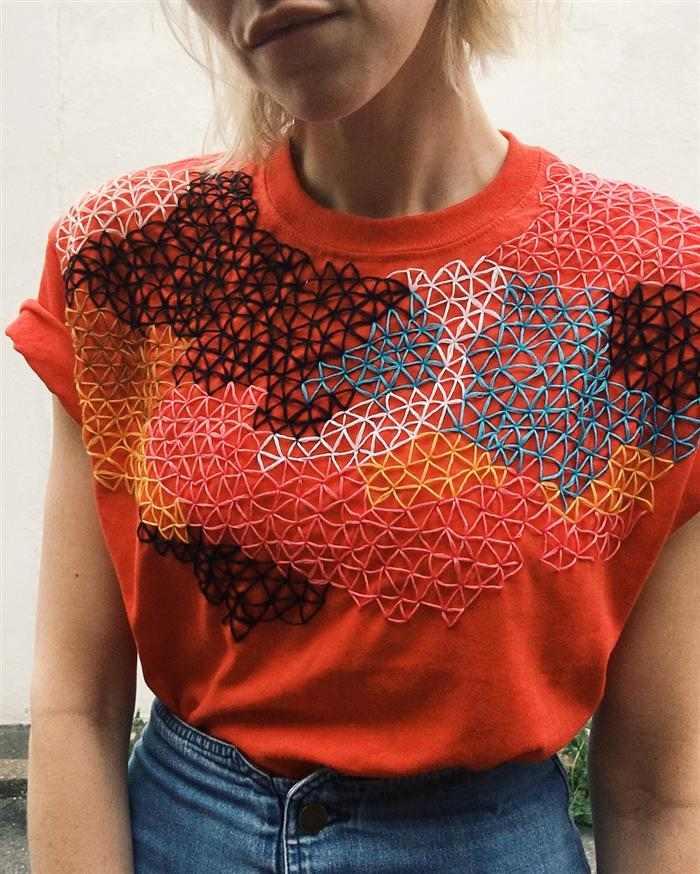 como customizar camisetas com criatividade bordado