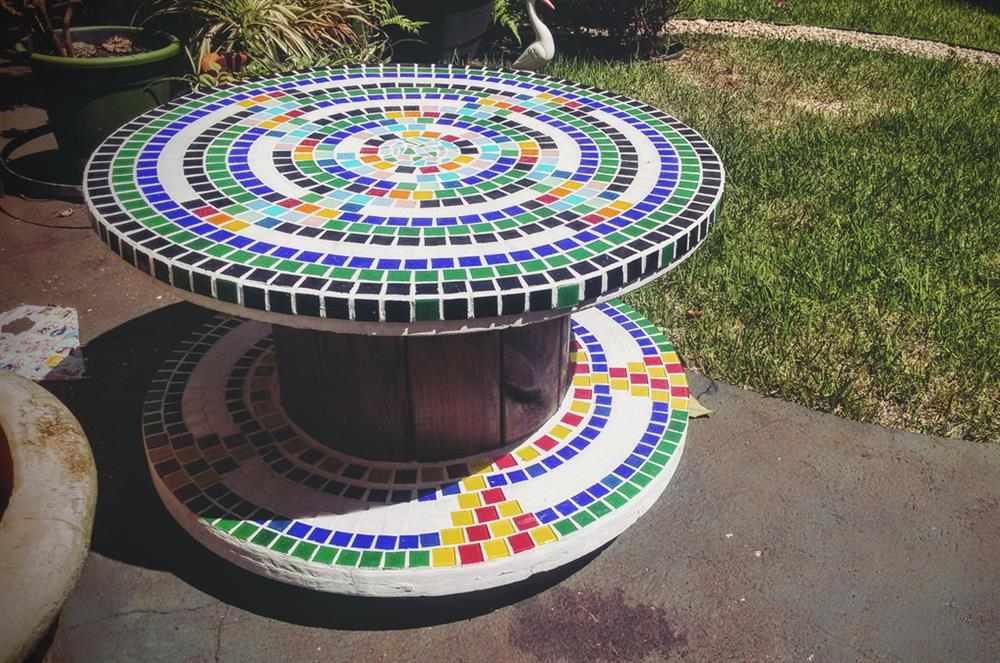Mosaico em carretel