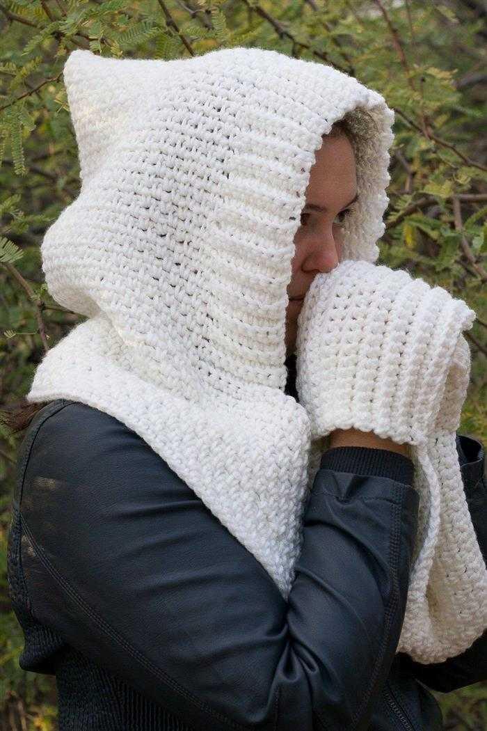 cachecol com capuz