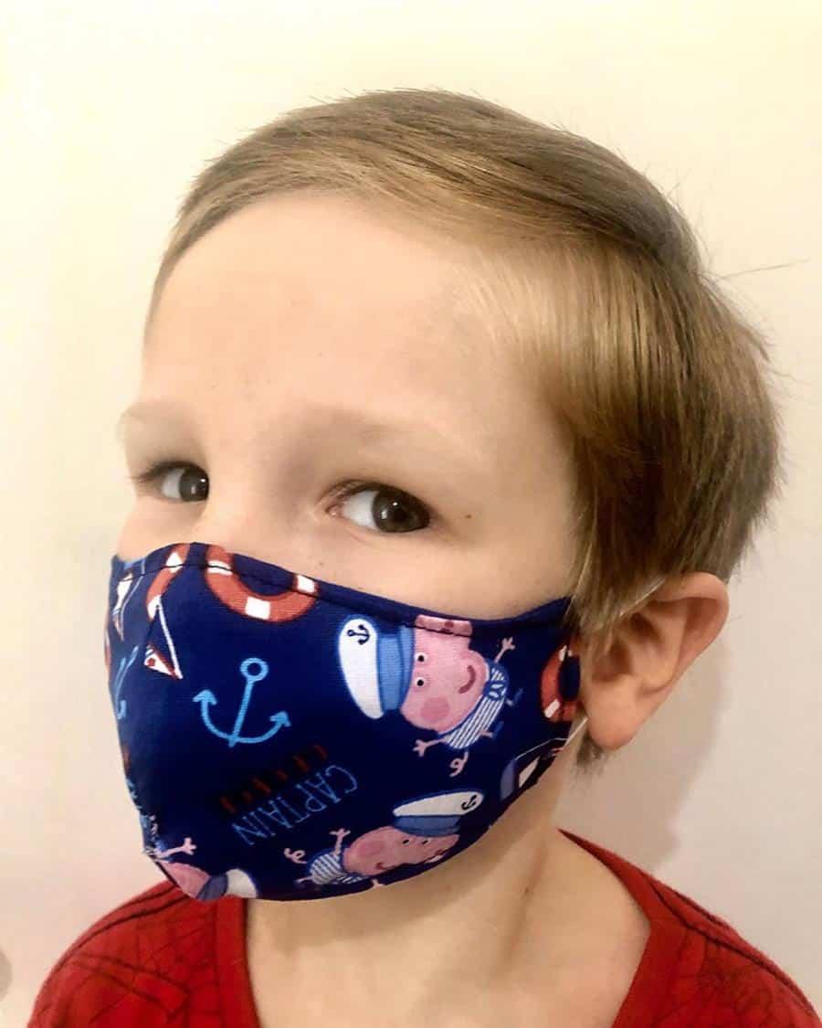 como fazer mascara infantil bico de pato com molde