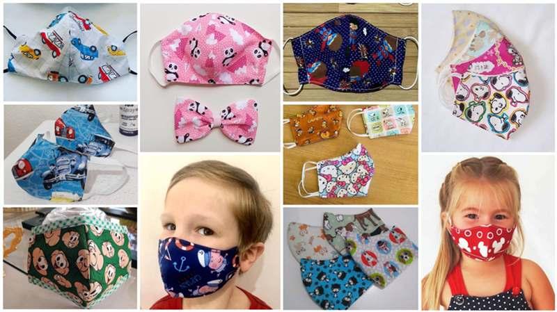 como fazer mascara infantil