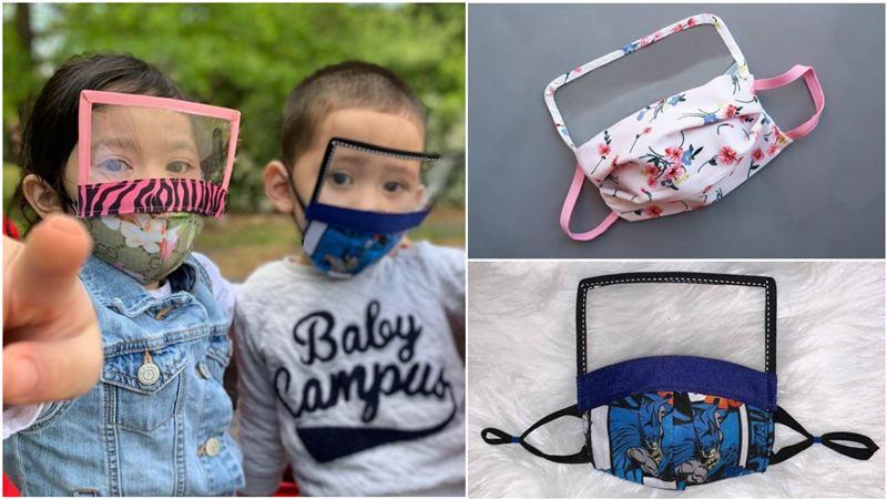 mascara infantil com viseira e molde
