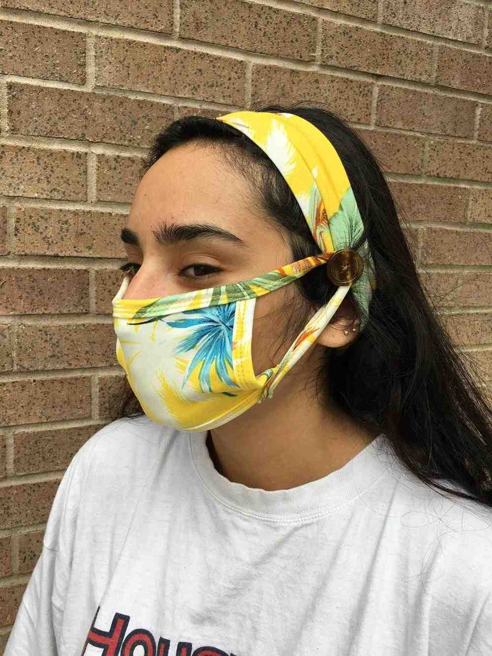tiara para usar com mascara