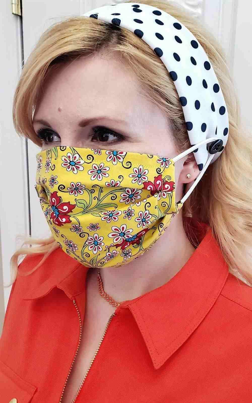 tiara para prender mascara