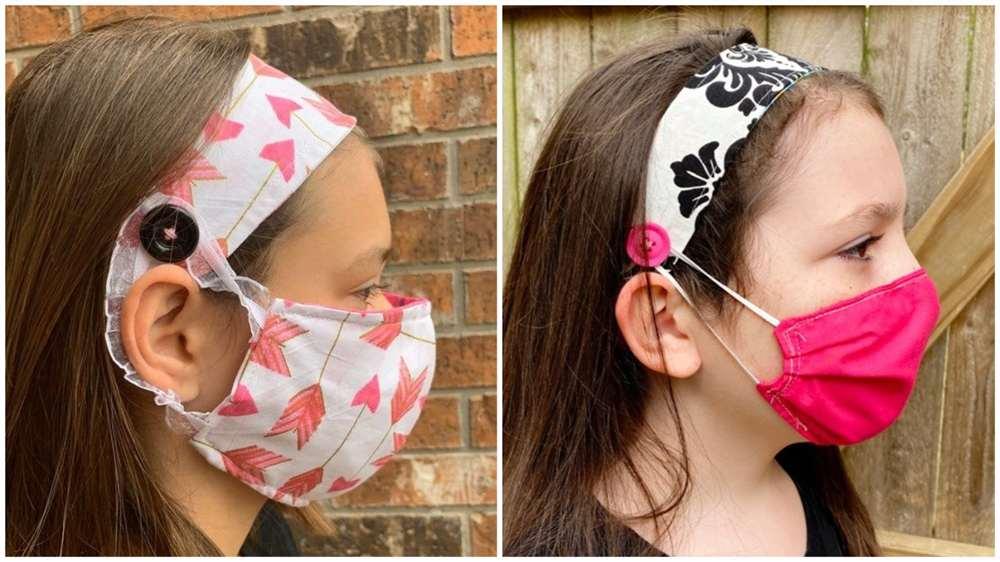 tiara de tecido com mascara