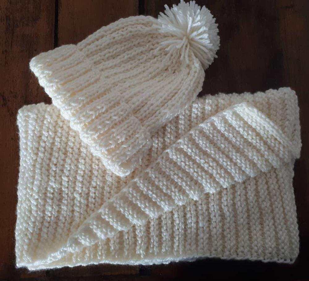touca de trico para bebe