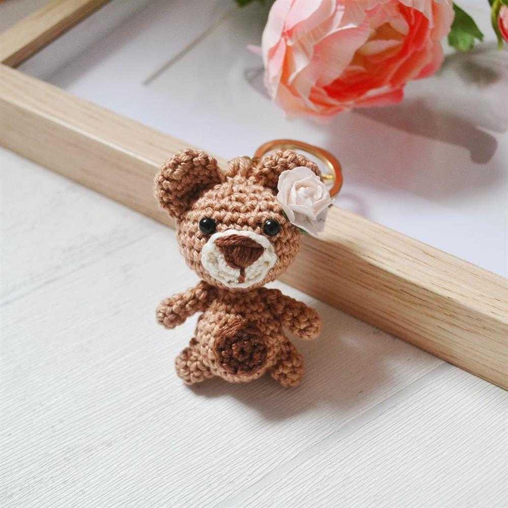 mini urso amigurumi