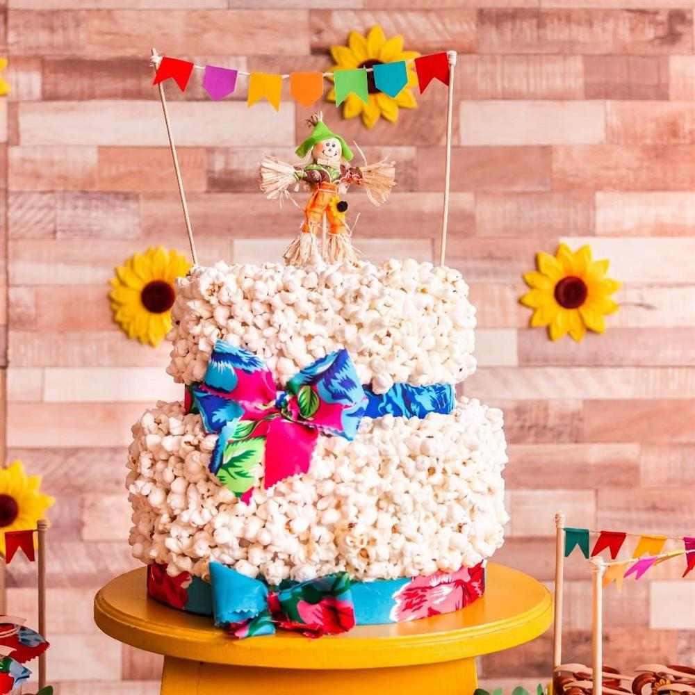 bolo de pipoca para festa junina