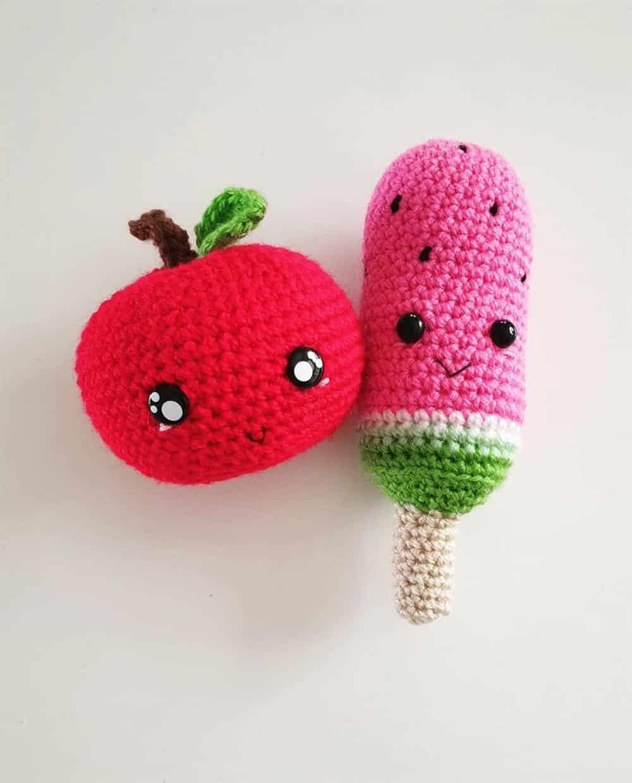 fruta amigurumi