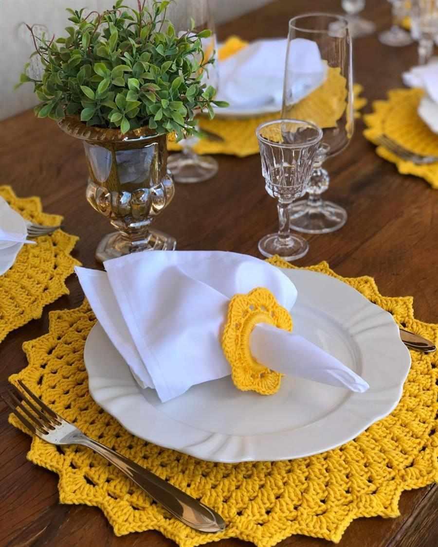 sousplat para prato amarelo