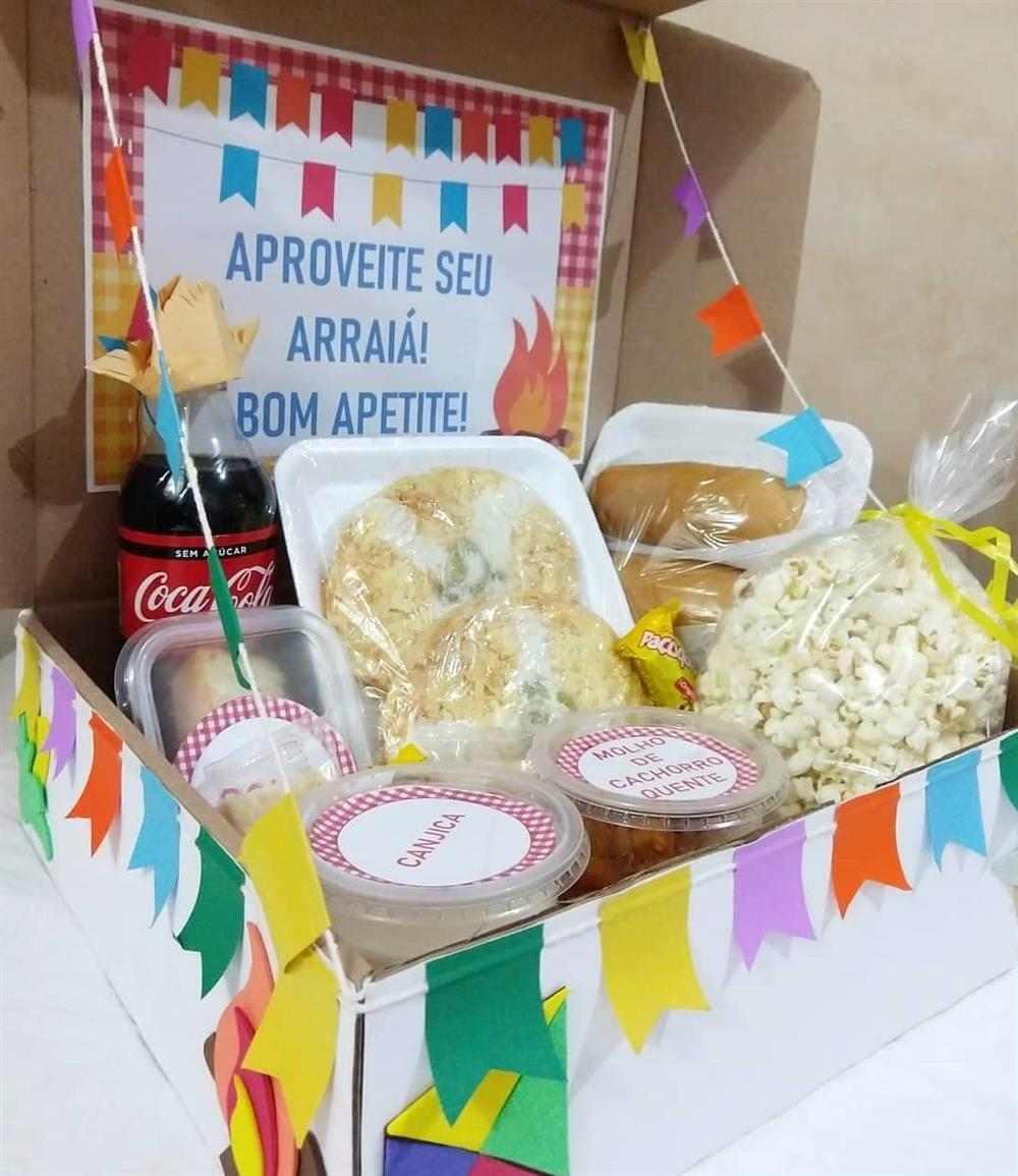 caixa surpresa festa junina