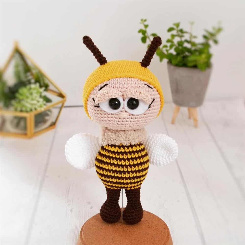 mini abelha amigurumi