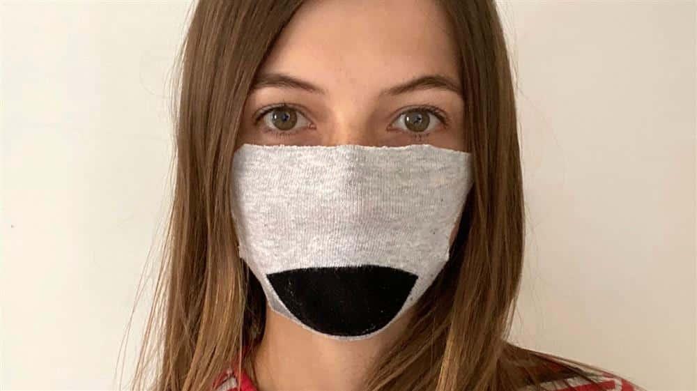 como fazer mascara com meia usada