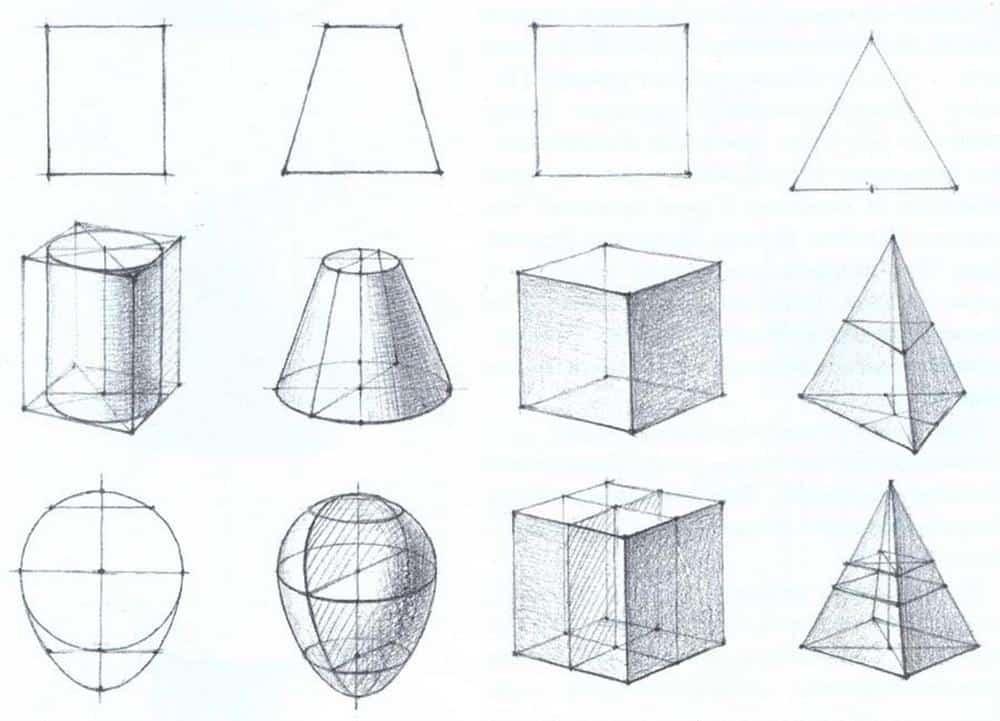 como aprender a desenhar formas geometricas