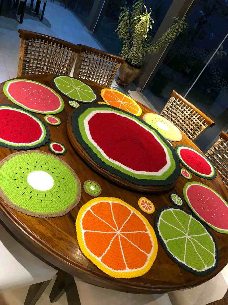 sousplat de frutas