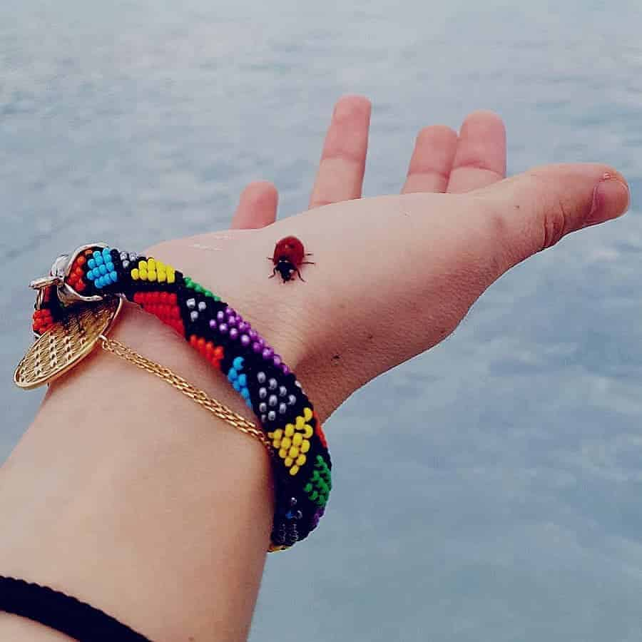 bracelete de miçangas