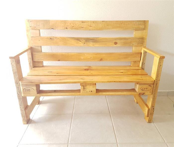 banco de pallet de madeira
