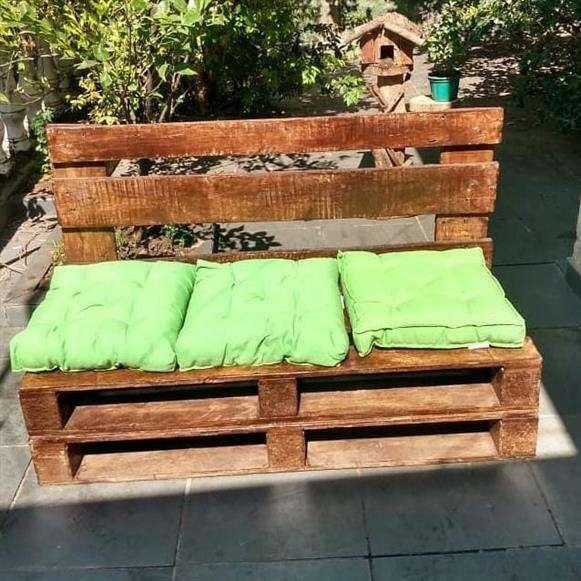 sofa e banco de pallet