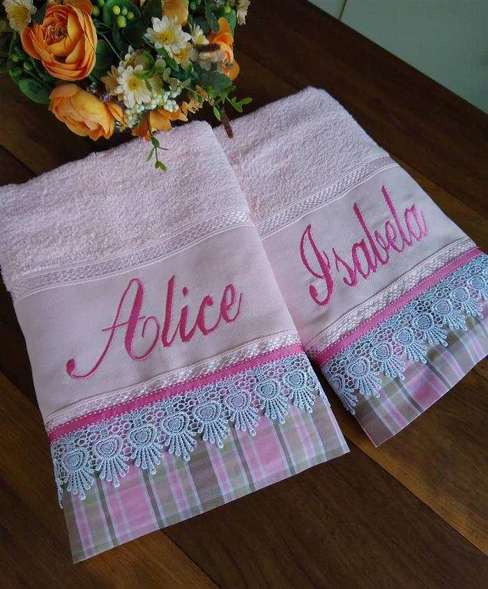 toalhas bordadas com nome