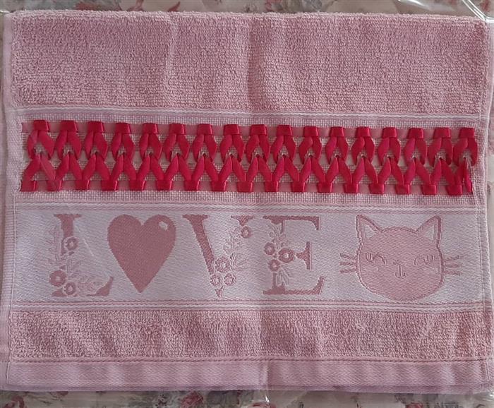 toalhas bordadas de cetim