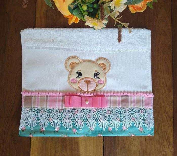 toalhas bordadas para bebe