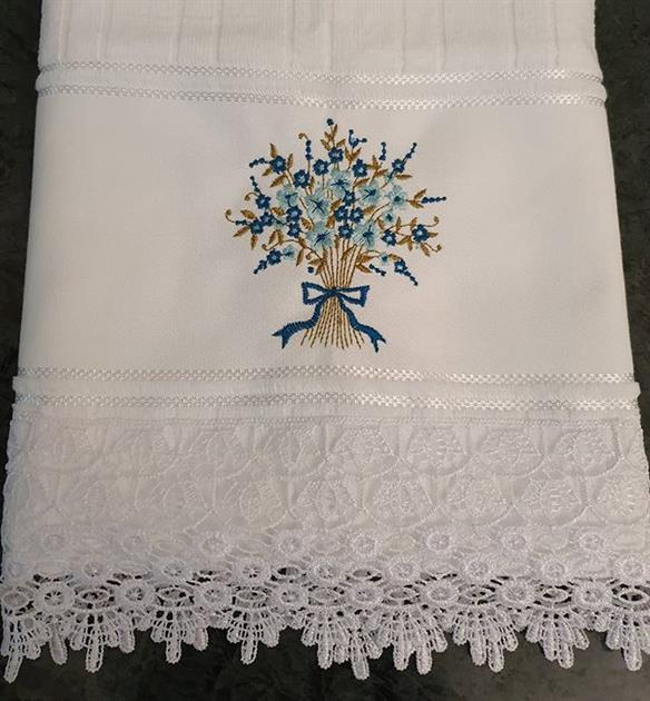 toalhas bordadas para lavabo