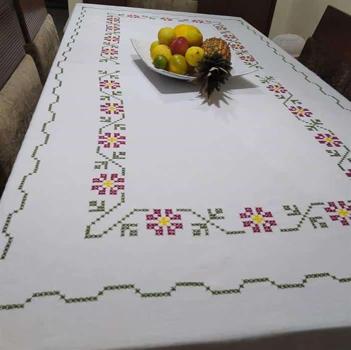 toalhas de jantar bordadas