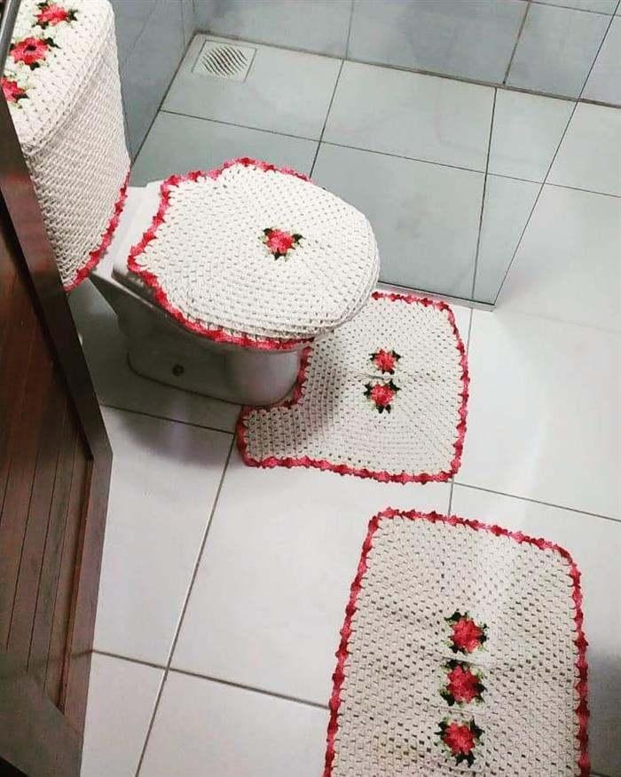 jogo de banheiro de croche