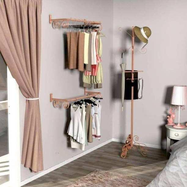 organizador de roupas parede