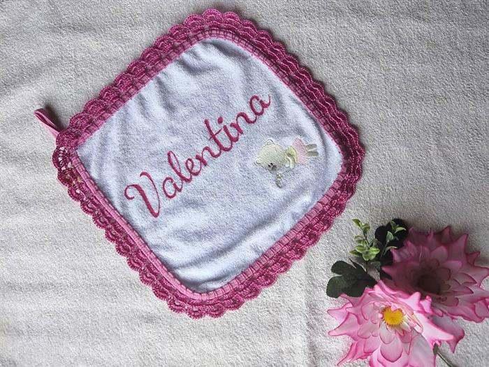 amostra de bicos de croche para toalhas