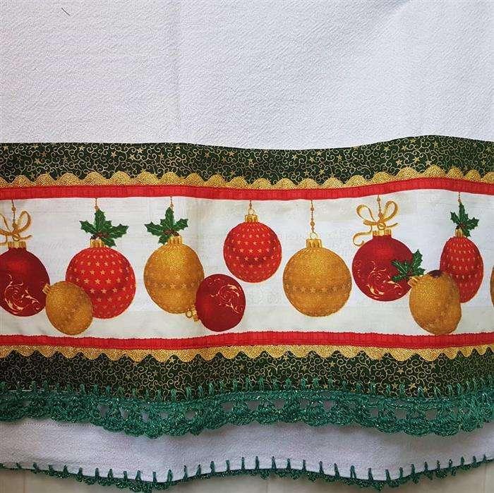bico de croche pano de frutas