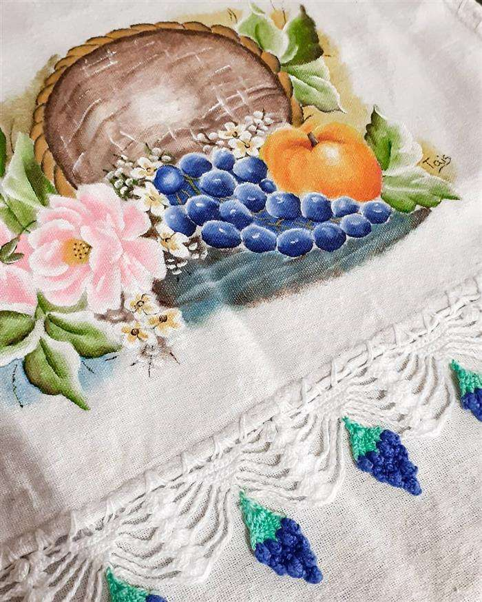 bico de croche uvas