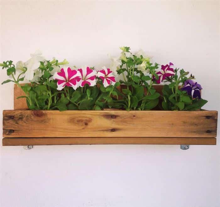 prateleira de paletes para plantas