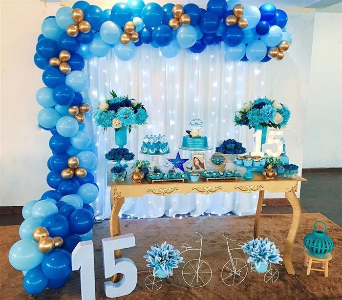 decoração festa sereia simples
