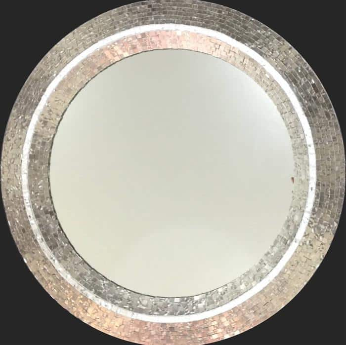 moldura espelho jateado