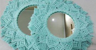 moldura para espelho artesanato