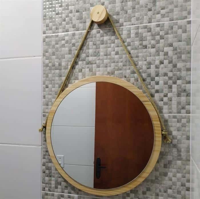 moldura para espelho em madeira