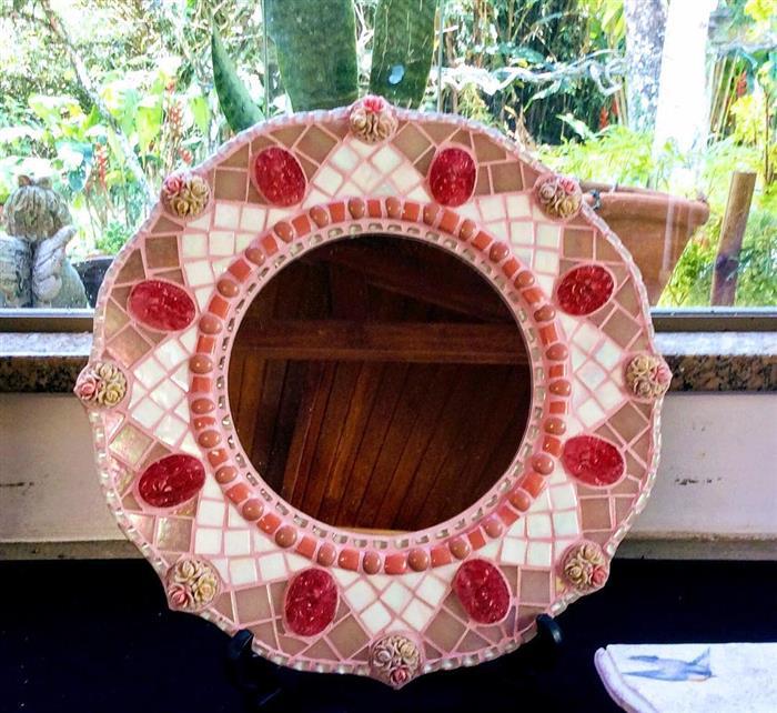 moldura para espelho grande artesanato
